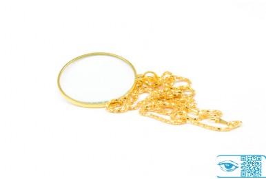 Лупа-цепочка золото (5X42 мм)